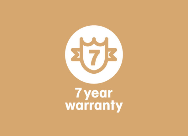 Warranty extending to 7 years