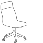Viv Highback Chair 5 Star