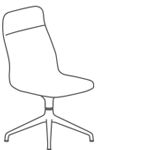 Viv Highback Chair 4 Star