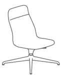 Viv Highback Lounge Chair 4 Star