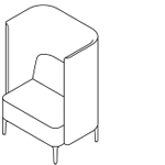 Pullman chair with legs