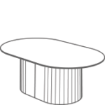 Tun Low Coffee Table - upholstered base